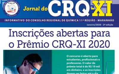 Inscrições abertas para o Prêmio CRQ-XI 2020