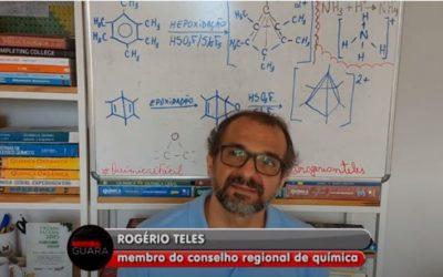 Na TV: Rogério Teles alerta sobre desinfecção de pessoas