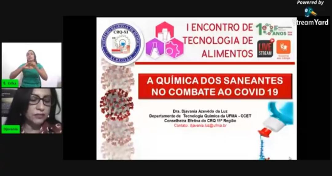 Live IFMA-Bacabal: Djavania da Luz falou sobre produtos no combate à COVID-19