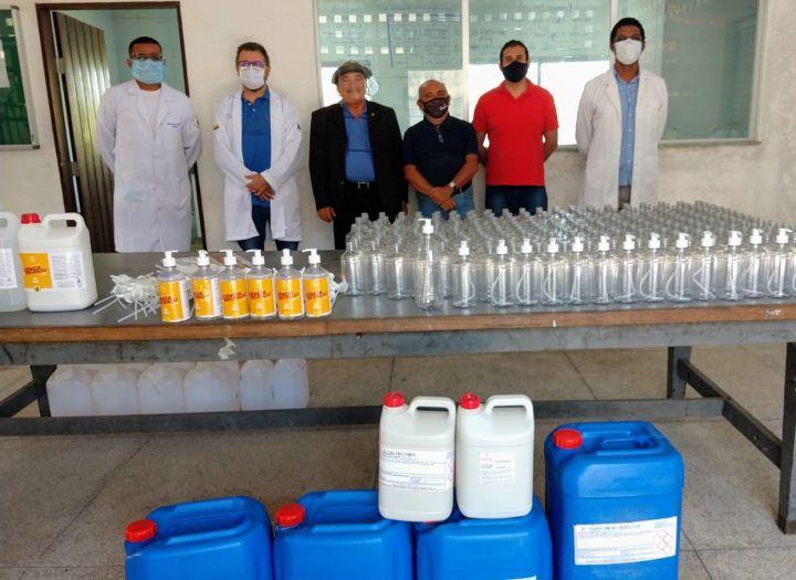 CRQ-XI doa insumos para mil litros de álcool em gel e 2 mil frascos