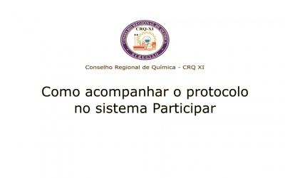 Como acompanhar o protocolo no sistema Participar